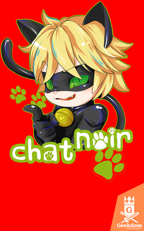 Camiseta Miraculous - Cat Noir - by PsychoDelicia