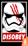Camiseta Star Wars - Disobey - by Ddjvigo | www.geekdomstore.com