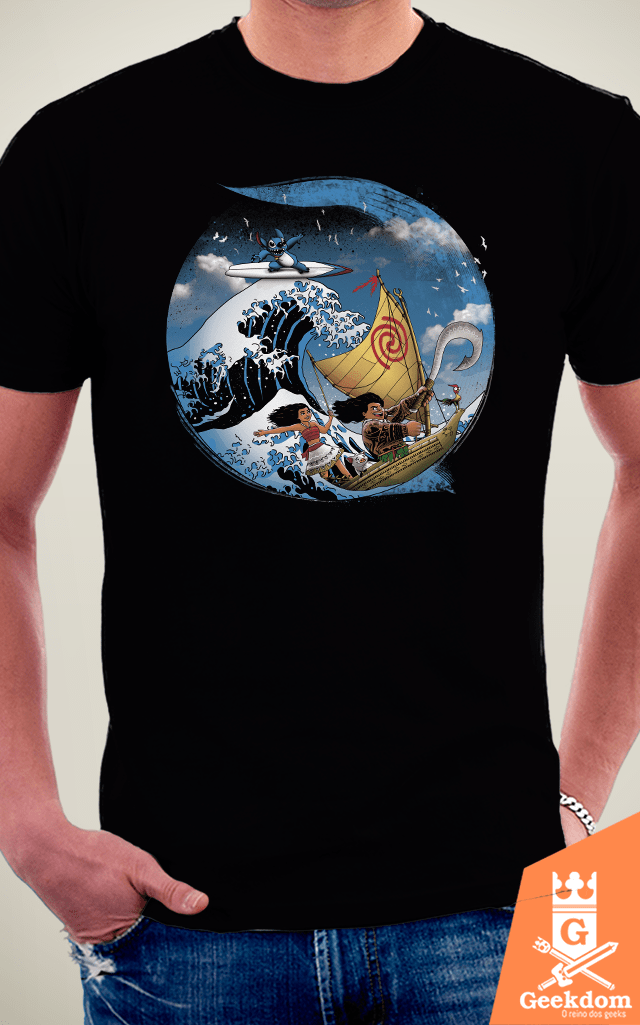 Camiseta Moana & Stitch - Aventura Tropical - by Vincent Trinidad Art | Geekdom Store | www.geekdomstore.com