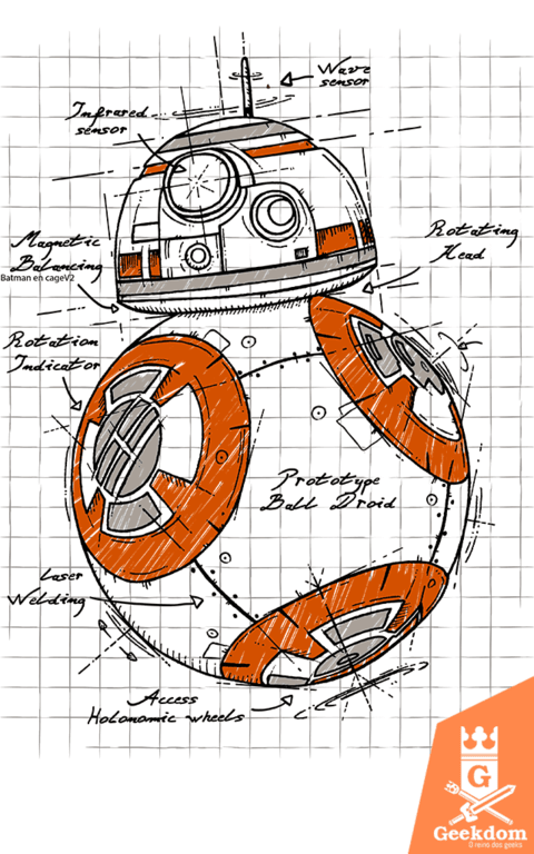Camiseta Star Wars - BB8 - by Le Duc