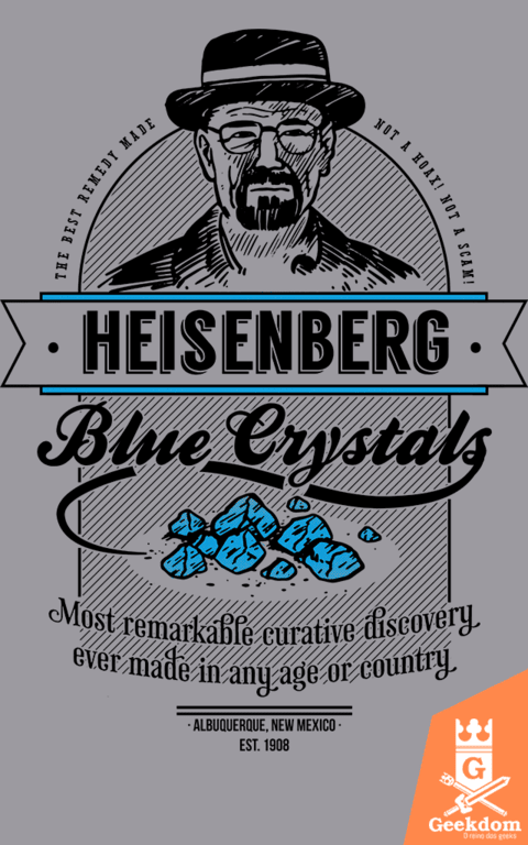 Camiseta Breaking Bad - Cristais Azuis - by Azafran