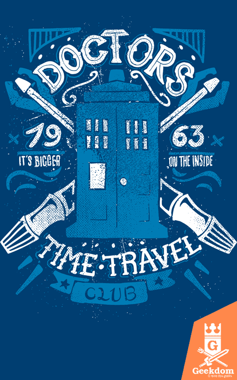 Camiseta Doctor Who - Clube dos Viajantes do Tempo - by Azafran