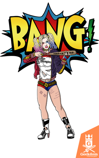 Camiseta Harley Quinn - Bang - by Andrei