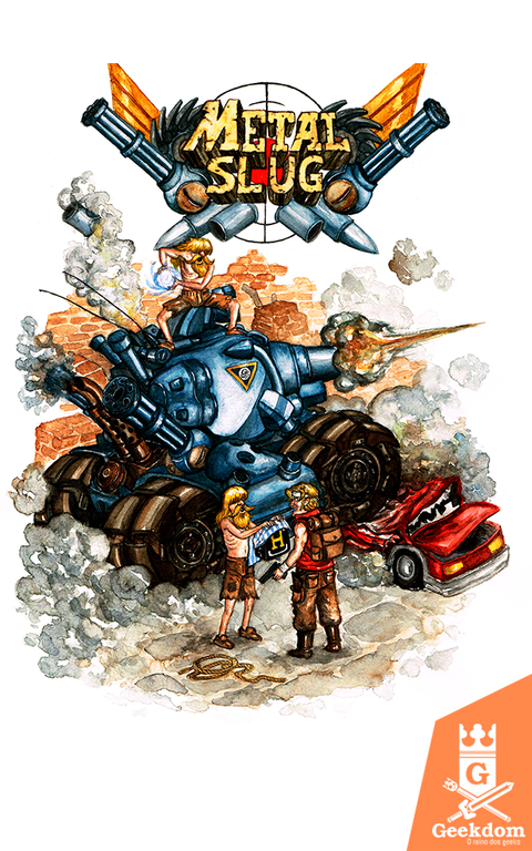 Camiseta Metal Slug - by Guimarães