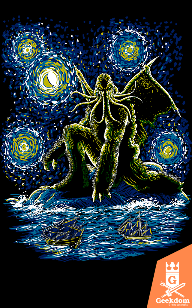 Camiseta Noite do Cthulhu - by Ddjvigo