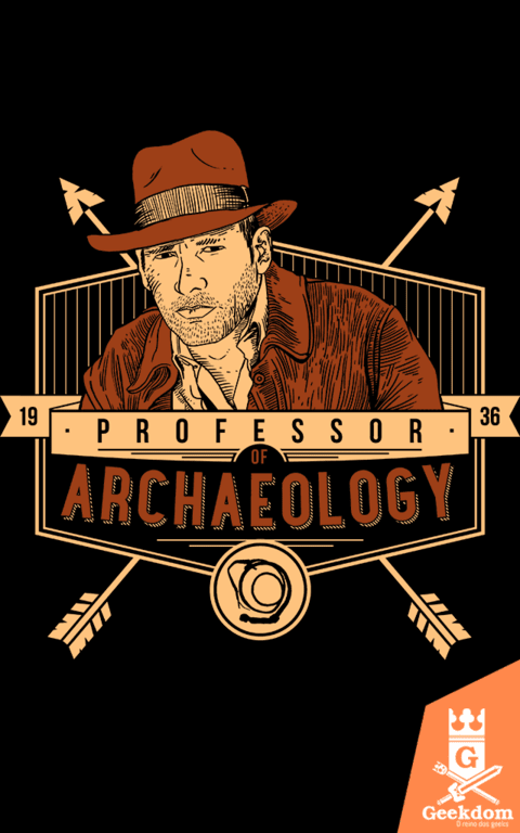Camiseta Indiana Jones - Professor de Arqueologia - by Azafran