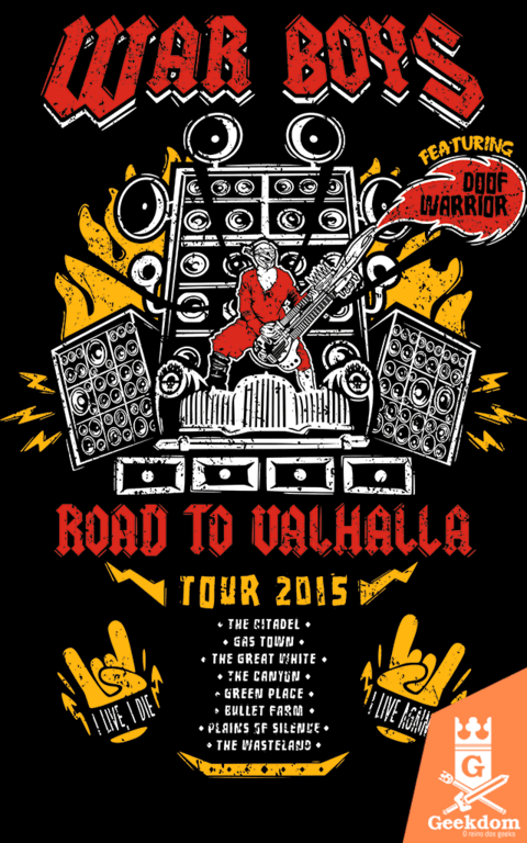 Camiseta Mad Max - Road to Valhalla Tour - by Olipop