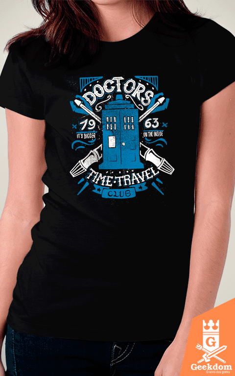 Camiseta Doctor Who - Clube dos Viajantes do Tempo - by Azafran | www.geekdomstore.com