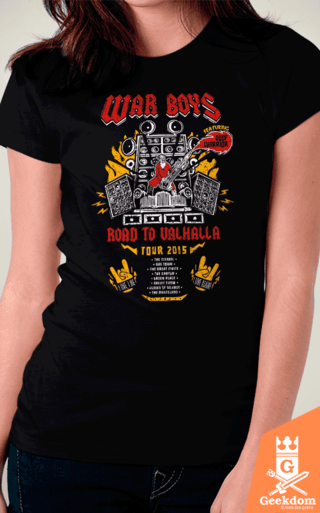 Camiseta Mad Max - Road to Valhalla Tour - by Olipop | www.geekdomstore.com