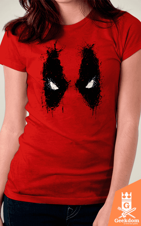 Camiseta Deadpool - Splash Eyes - by Ddjvigo | www.geekdomstore.com