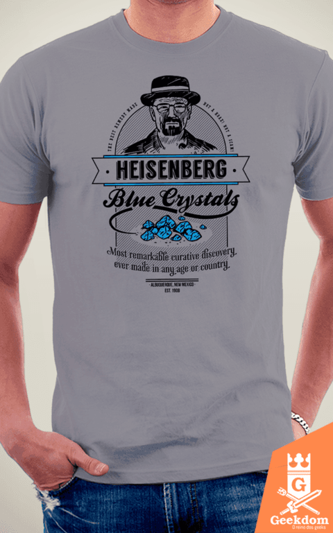 Camiseta Breaking Bad - Cristais Azuis - by Azafran | www.geekdomstore.com