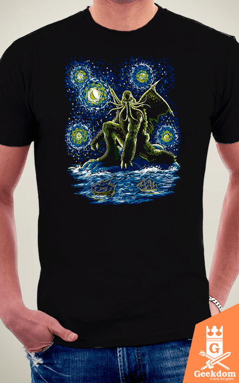 Camiseta Noite do Cthulhu - by Ddjvigo na internet