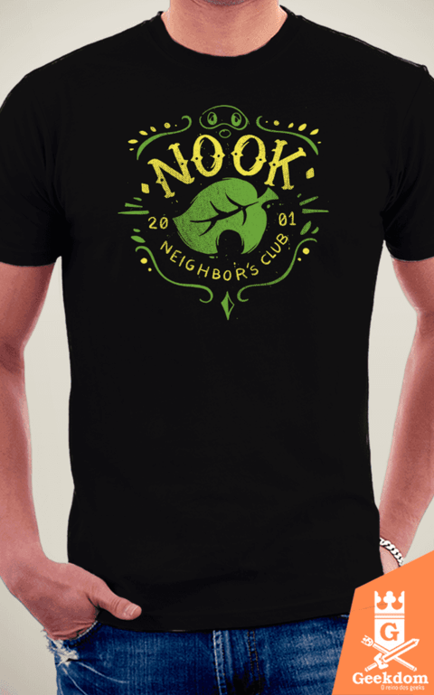Camiseta Animal Crossing - Clube do Nook - by Azafran | www.geekdomstore.com