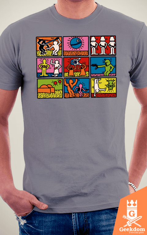 Camiseta Star Wars - Haring Frames - by Le Duc | www.geekdomstore.com