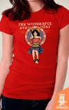 Camiseta Mulher-Maravilha - Wonderful Evening Post - by Soletine | Geekdom Store | www.geekdomstore.com