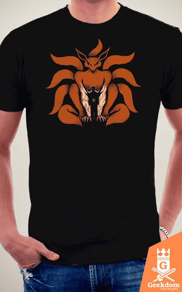 Camiseta Naruto - Shinobi de Nove Caldas - by Pigboom na internet