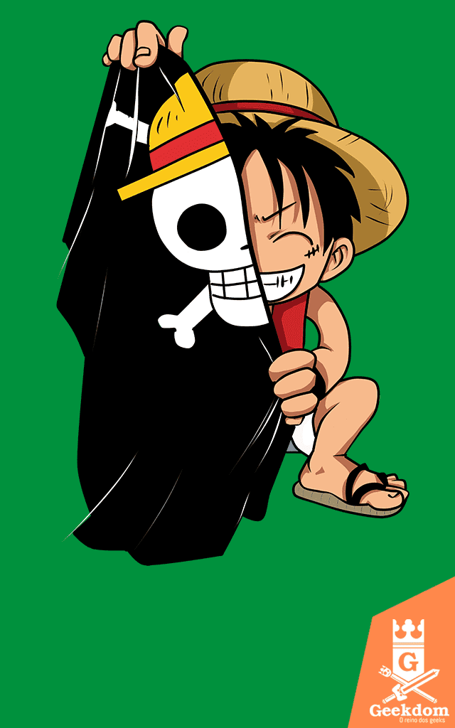 Camiseta One Piece - Bandeira - by PsychoDelicia