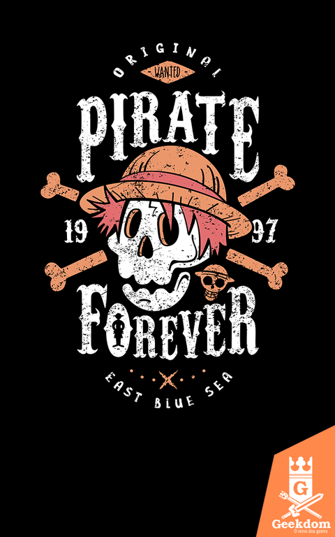Camiseta One Piece - Pirata Para Sempre - by Olipop