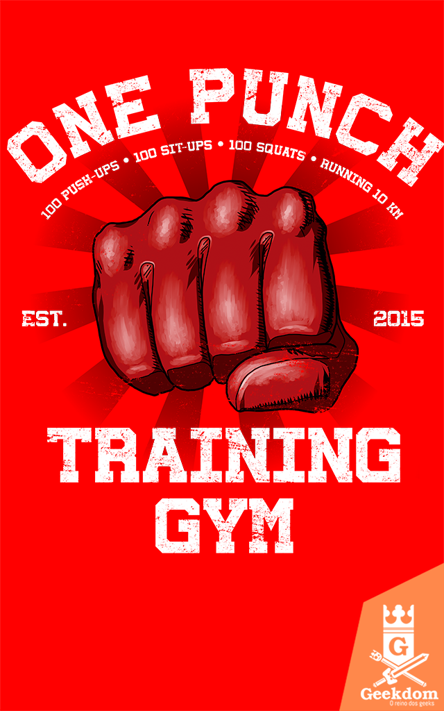 Camiseta One-Punch Academia - by Ddjvigo