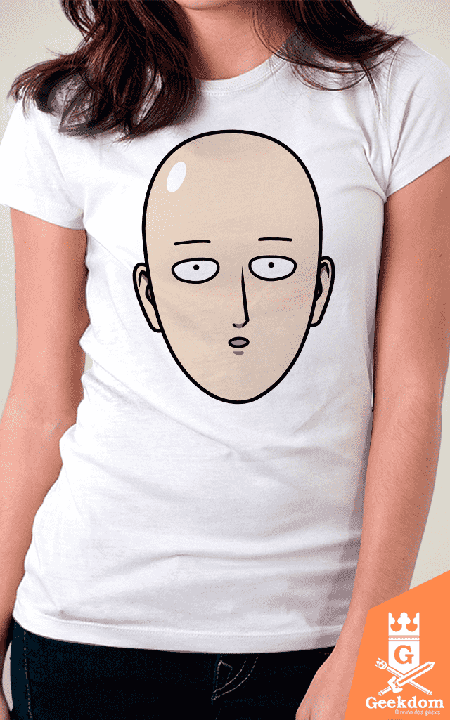 Camiseta One-Punch Man - Herói Careca - by Pigboom - Geekdom Store - Camisetas Geek Nerd