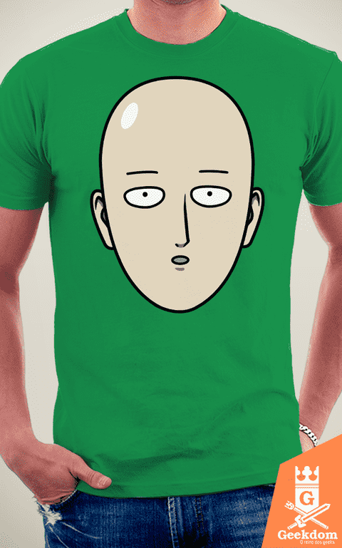 Camiseta One-Punch Man - Herói Careca - by Pigboom na internet
