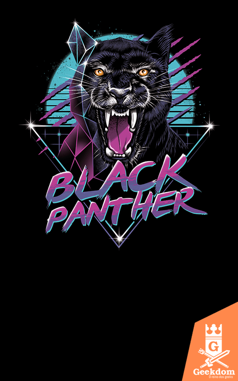 Camiseta Pantera Negra - Animal - by Vincent Trinidad Art