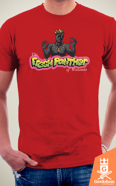 Camiseta Pantera Negra - The Fresh Panther - by Vincent Trinidad Art | Geekdom Store | www.geekdomstore.com