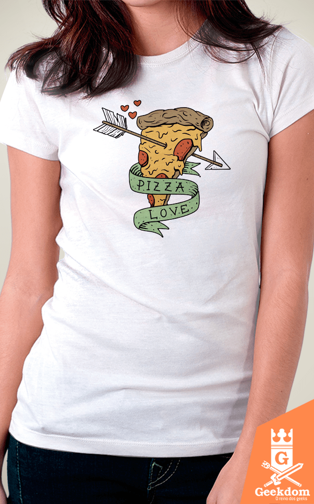 Camiseta Pizza Love - by Vincent Trinidad Art | Geekdom Store | www.geekdomstore.com