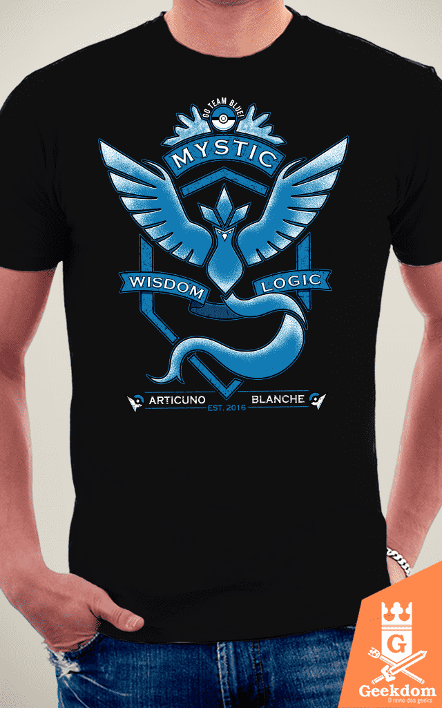 Camiseta Pokémon - Go Mystic - by Pigboom na internet