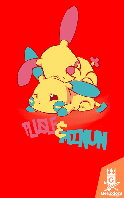 Camiseta Pokémon - Plusle and Minun - by PsychoDelicia