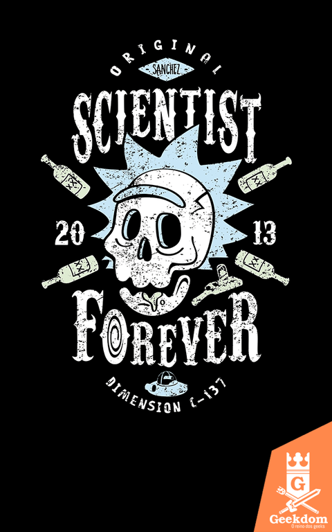 Camiseta Rick and Morty - Cientista Para Sempre - by Olipop