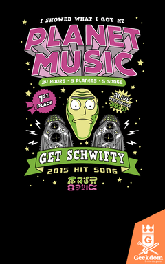 Camiseta Rick and Morty - Planeta Música - by Olipop | Geekdom Store | www.geekdomstore.com