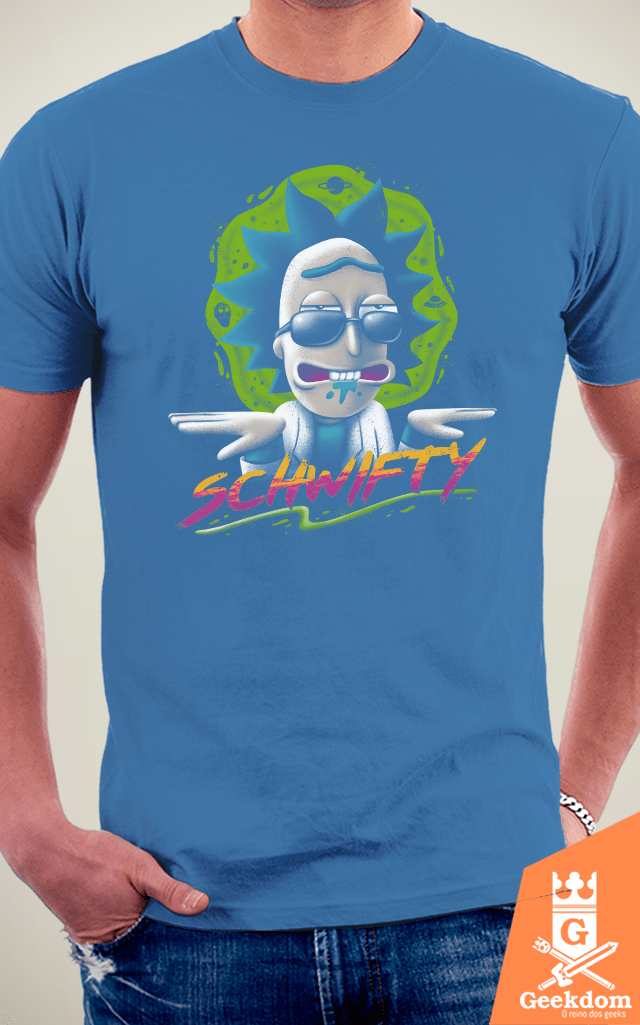 Camiseta Rick and Morty - Schwifty Vibe - by Vincent Trinidad Art | Geekdom Store | www.geekdomstore.com