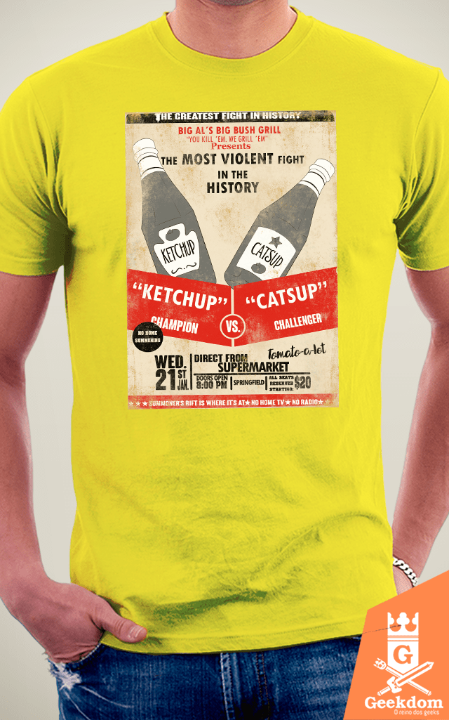 Camiseta Simpsons - Ketchup vs Catsup - by PsychoDelicia | Geekdom Store | www.geekdomstore.com