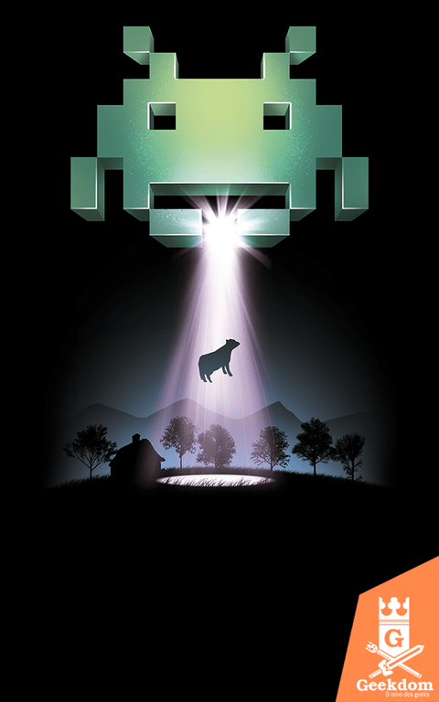 Camiseta Space Invaders - Vaca - by Vincent Trinidad Art
