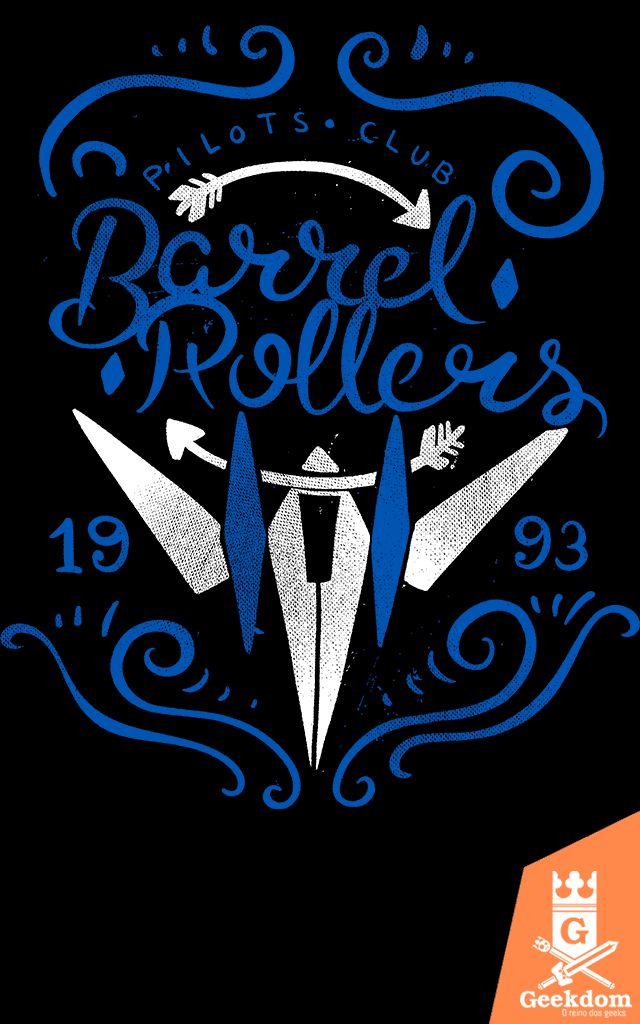 Camiseta Star Fox - Barrel Rollers - by Azafran