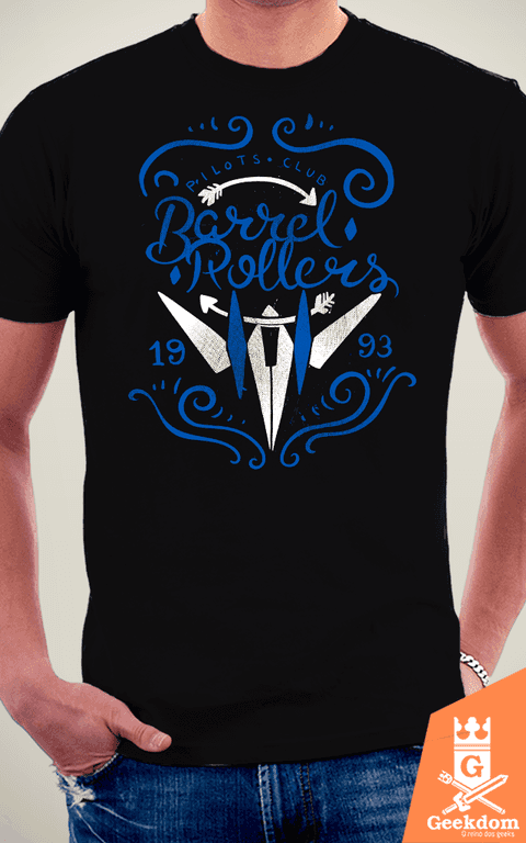 Camiseta Star Fox - Barrel Rollers - by Azafran na internet