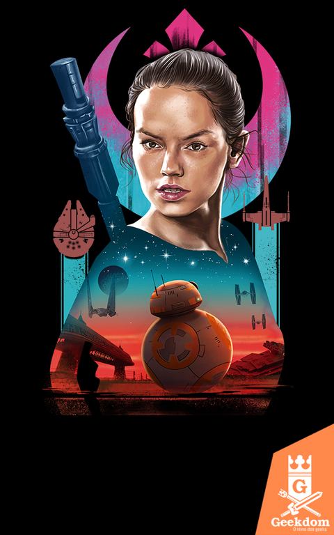 Camiseta Star Wars - A Força Despertou - by Vincent Trinidad Art