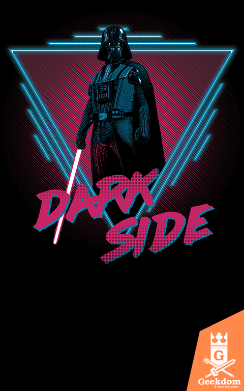 Camiseta Star Wars - Dark Side Neon - by Ddjvigo