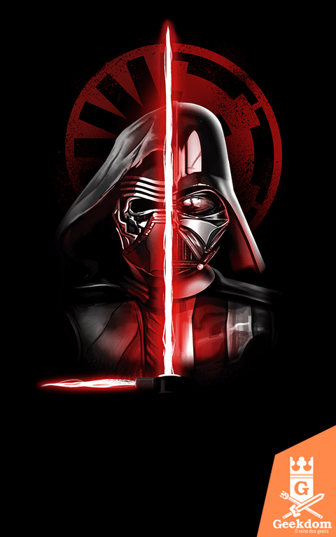 Camiseta Star Wars - O Caminho Sombrio Continua - by Vincent Trinidad Art