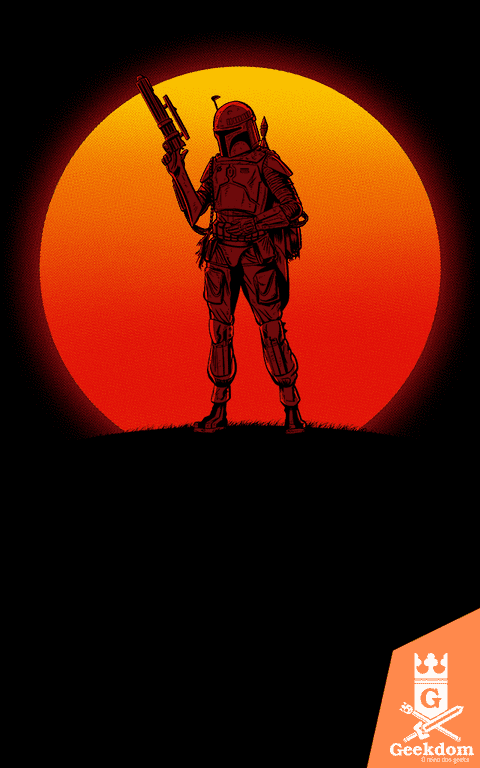 Camiseta Star Wars - Pôr do Sol Mandaloriano - by Ddjvigo