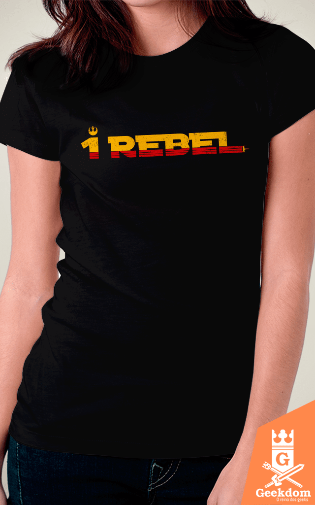 Camiseta Star Wars - Rogue 1 Rebel - by Pigboom | Geekdom Store | www.geekdomstore.com