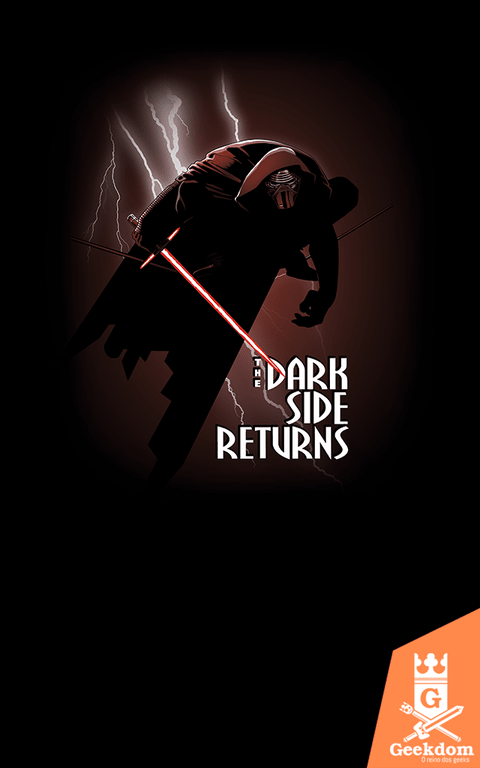 Camiseta Star Wars - The Dark Side Returns - by Ddjvigo