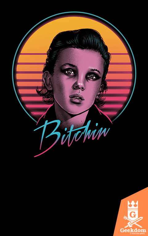 Camiseta Stranger Things - Bitchin' - by Vincent Trinidad Art