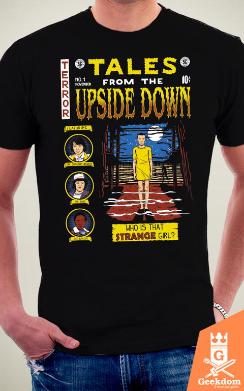 Camiseta Stranger Things - Contos do Mundo Invertido - by Olipop | Geekdom Store | www.geekdomstore.com