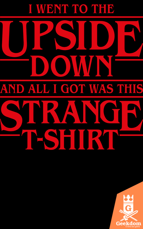 Camiseta Stranger Things - Strange T-Shirt - by Olipop