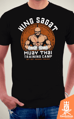 Camiseta Street Fighter - Academia Rei Sagat - by Pigboom na internet