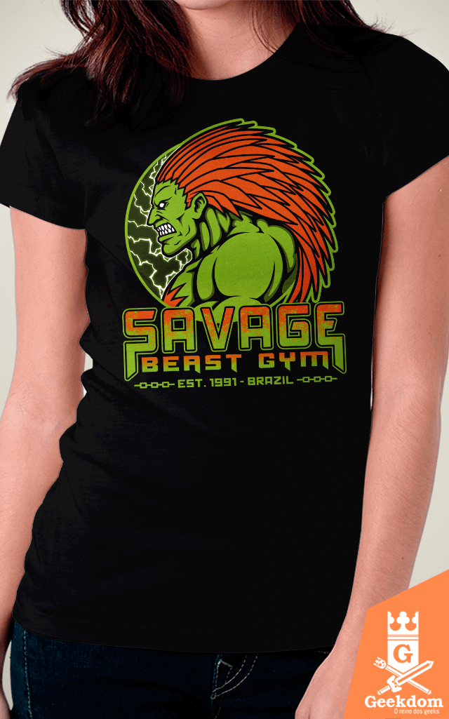 Camiseta Street Fighter - Academia Selvagem - by Pigboom | Geekdom Store | www.geekdomstore.com