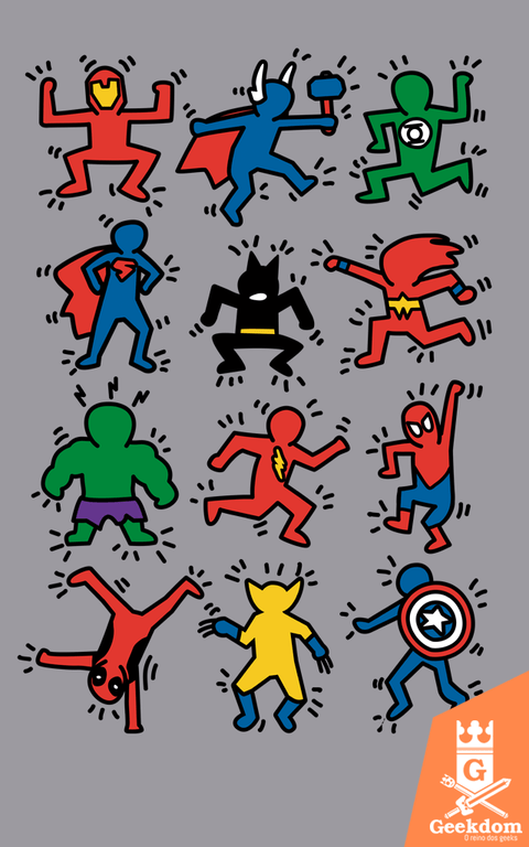 Camiseta Super Haring - by Le Duc