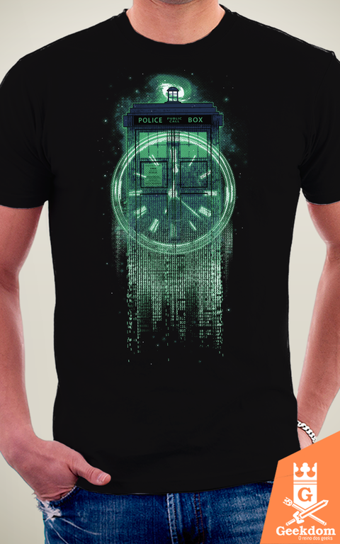 Camiseta Tardis Matrix - by RicoMambo na internet